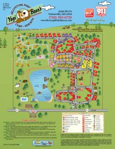 Hocking Hills Jelleystone Site Map